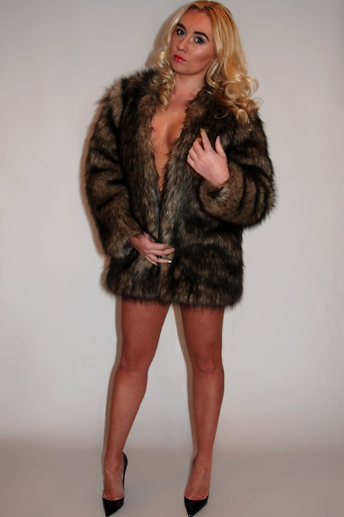 Longhaired Faux Fur Jacket