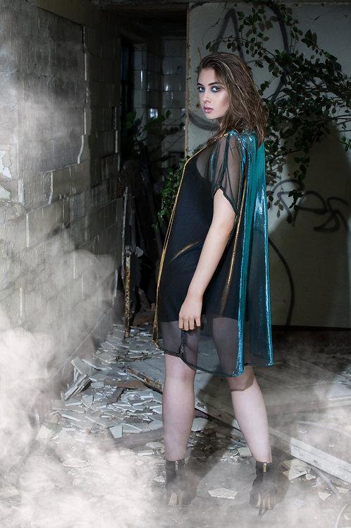 Oversized 2-Tone Metallic 'Jungle' Dress