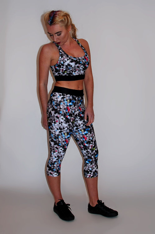 Prism-Splash Cropped Leggings