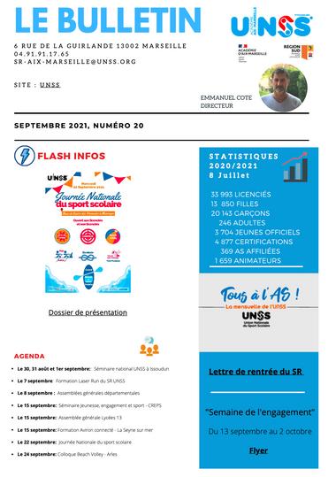 Bulletin UNSS Aix Marseille