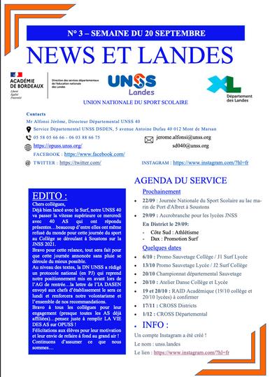 News et Landes n°3