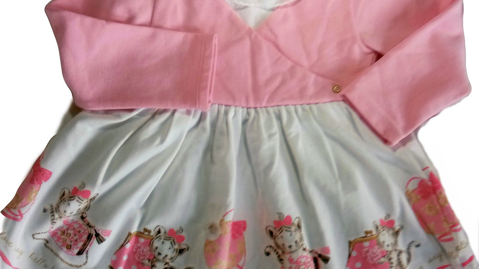 Mayoral Dress Pink and White dress 24months
