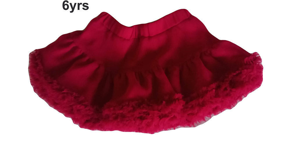 Joules Red Ruffle Skirt 6yrs