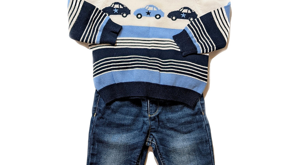 Mayoral Baby Jumper and Jeans  (6months)