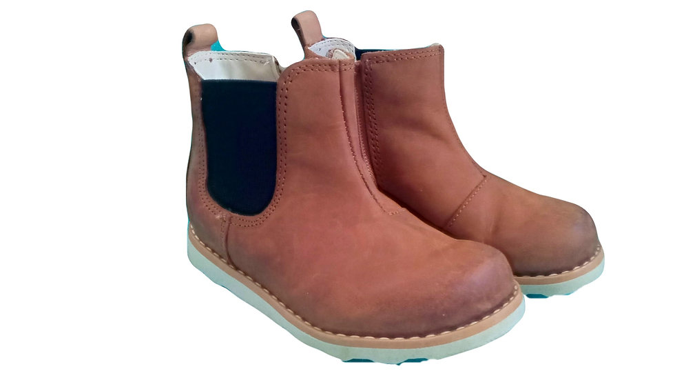 Crown Halo Tan toddler boots 5.5F