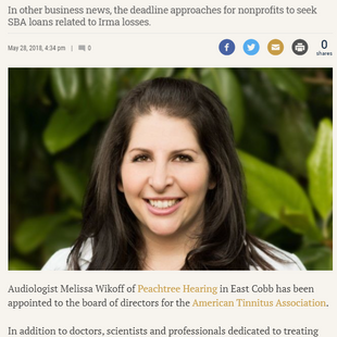 Wikoff Named To National Tinnitus Board - AJT