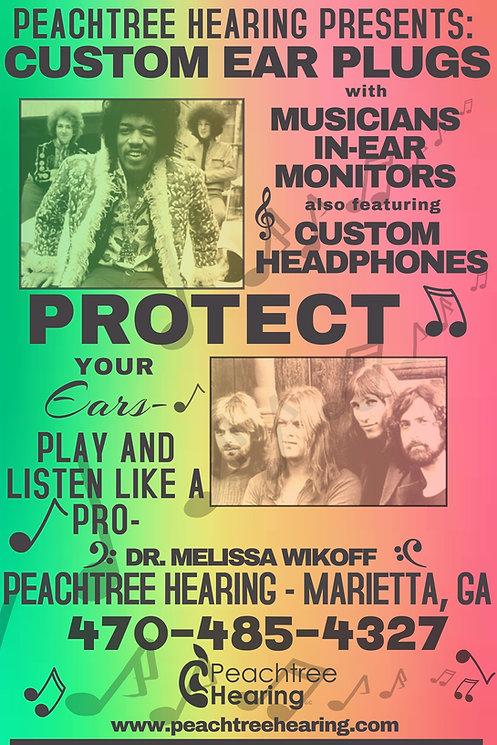 Custom ear plugs poster