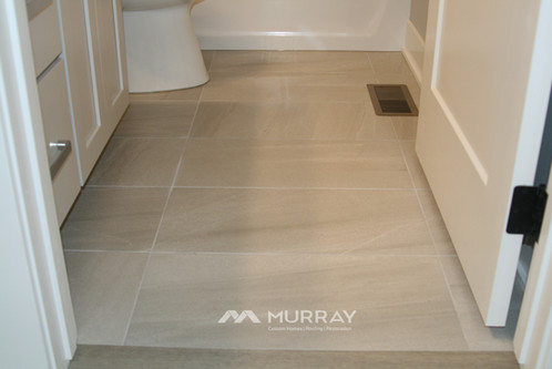 Murray Custom Home Builders Gallery SW Village Heights 6525 Main Bath Flooring