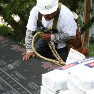 Murray Roofing Crew Installing Habitat Roof Donation