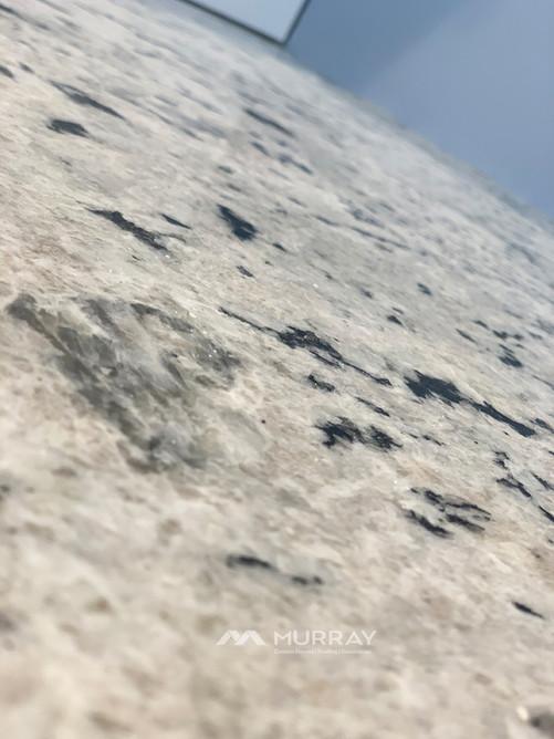 Close-Up of the Granite in the Custom Bathroom by Murray Custom Homes