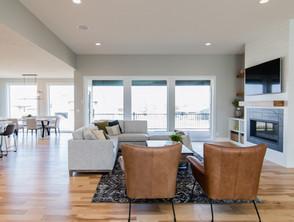 custom home builders living room design.