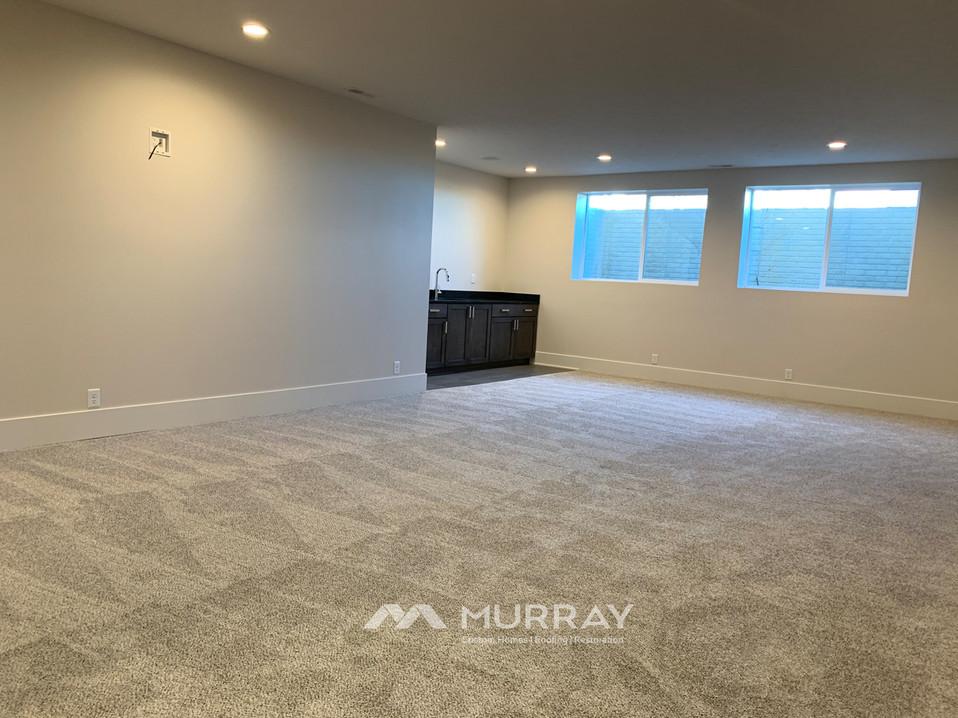Murray Custom Home Builders Gallery SW Village Heights 6525 Basement Living