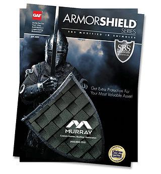 GAF Armorshield shingles brochure cover.