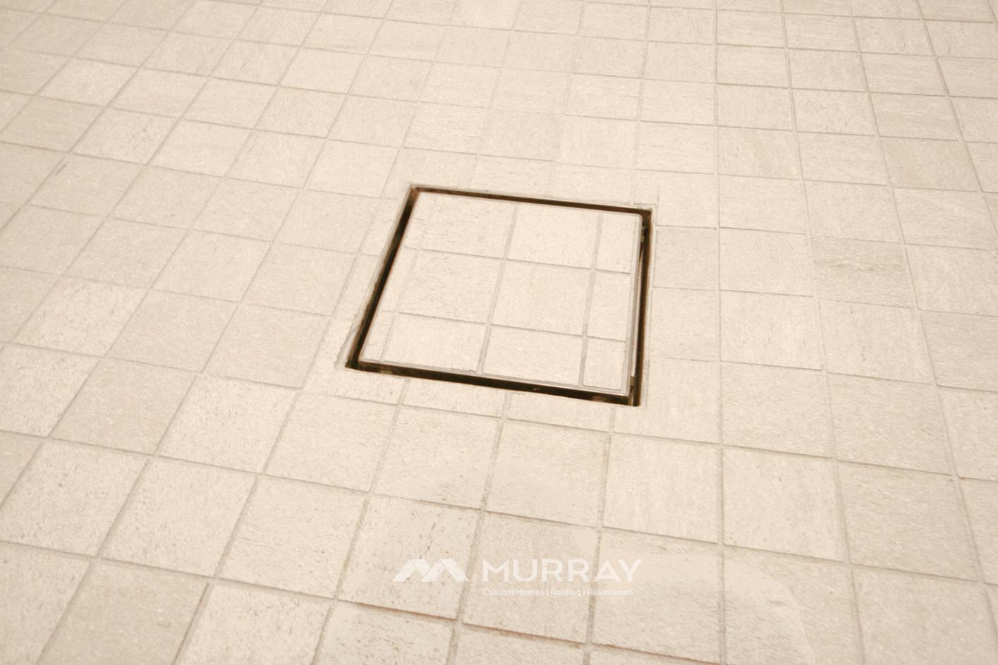 Murray Custom Home Builders Gallery SW Village Heights 6525 Master Shower Drain