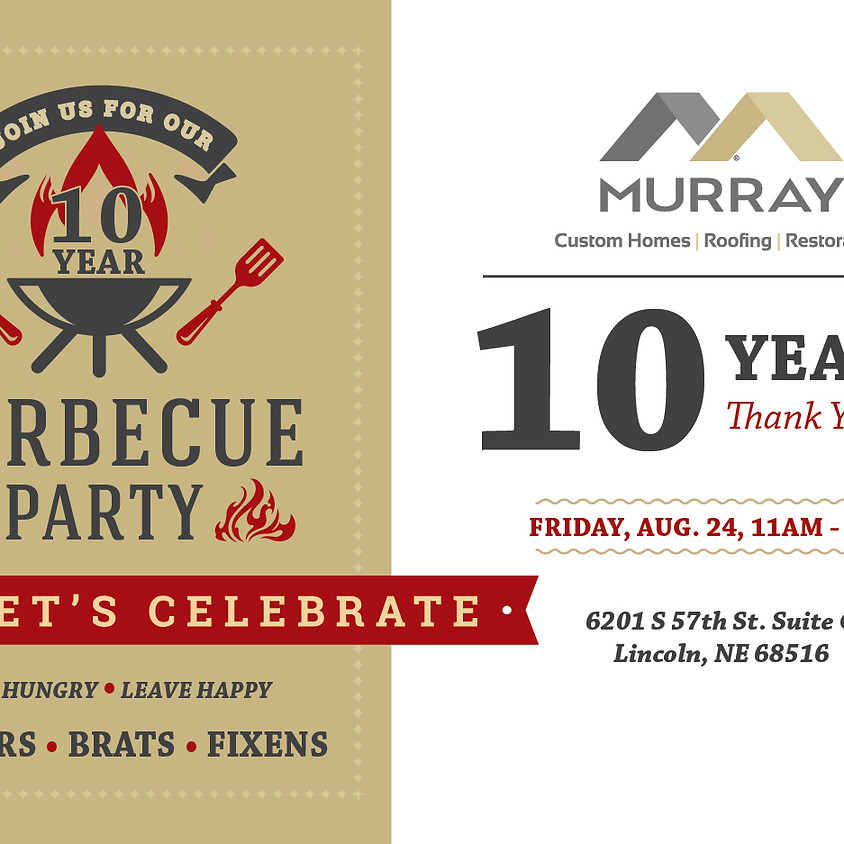 Murray Custom Homes - 10 Year BBQ Lunch