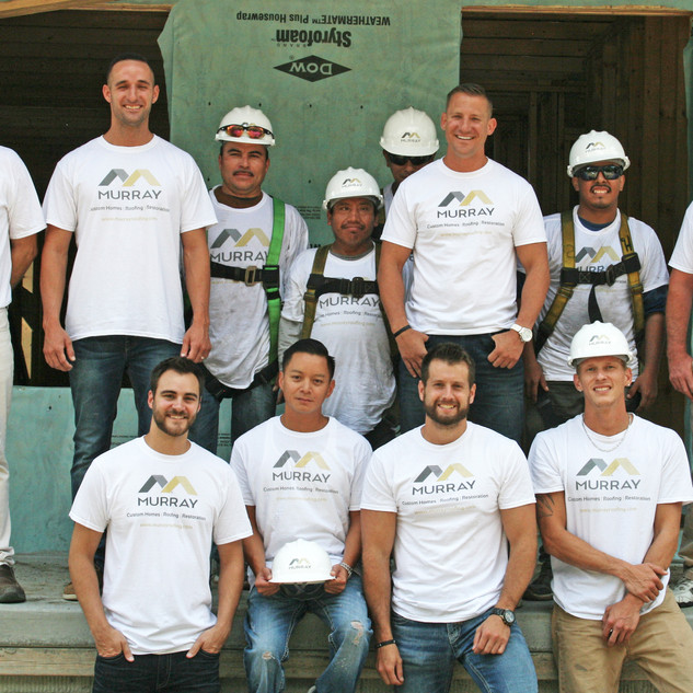 Murray Roofing Team at Habitat for Humanity