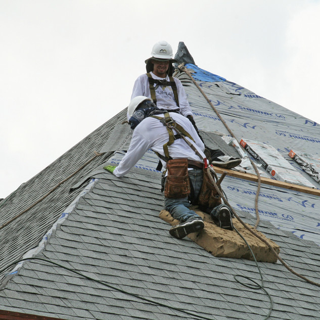Steep Slope Roofing Contractors at a Church