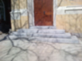 Granite Step Installation