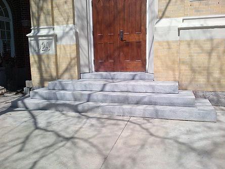 Granite Step Installation