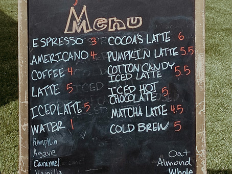Menu Blog....want to get a free surprise added to your drink?