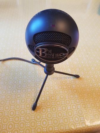 Snowball ice microphone