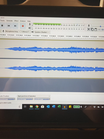 Audacity audio recording software to record the Trek Book Club podcasts and roundtables