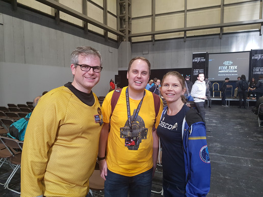 Rick (@TrekfanRick), Rob (@TrekkieRob) and Rachel (@rvkirk)