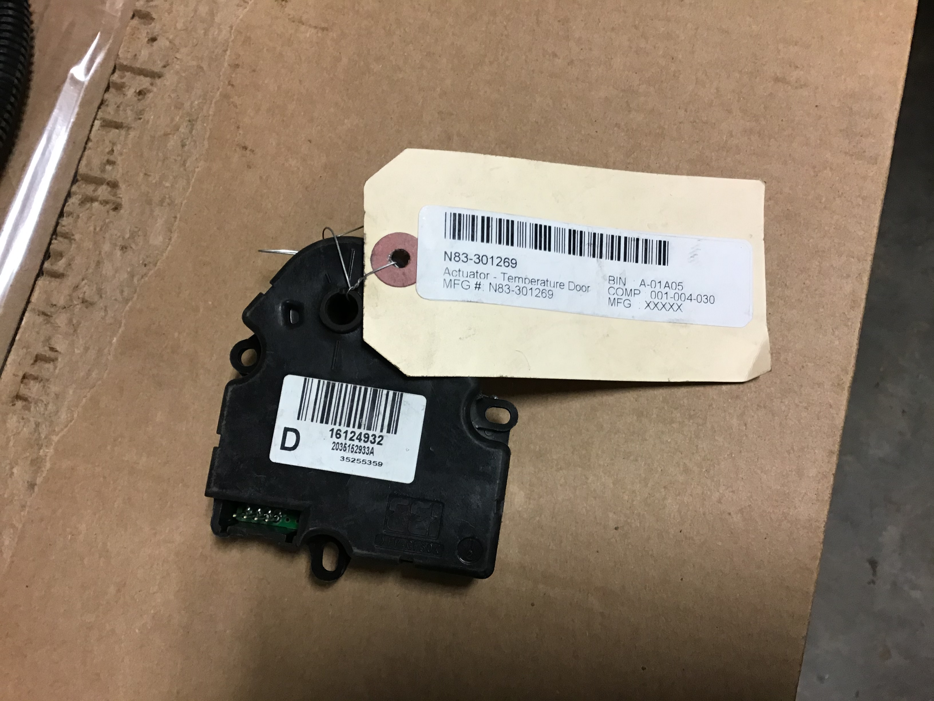 N83 301269 Actuator - Temperature Door