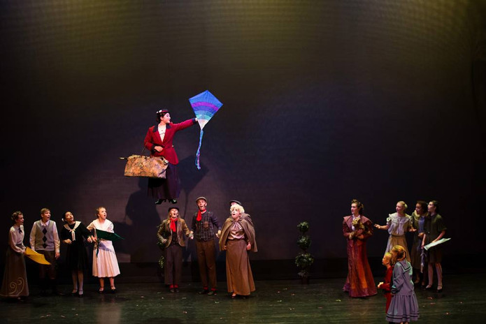Mary Poppins and Ensemble
