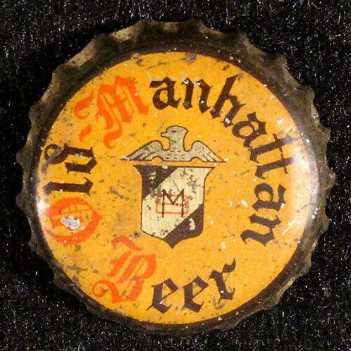 Old Manhattan Beer - Gold Logo