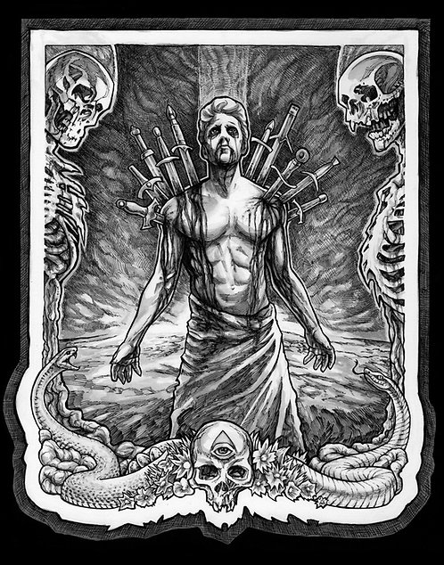 Ten of Swords (Ink Version)