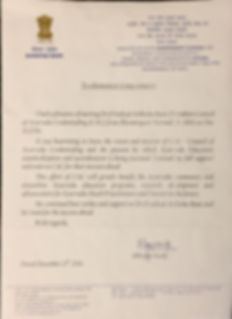Letter from India Ayush Cabinet     Mini