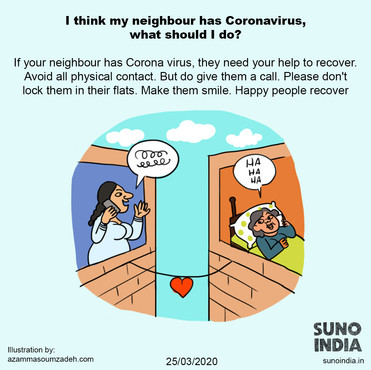 I think my neighbour has coronavirus what should i do