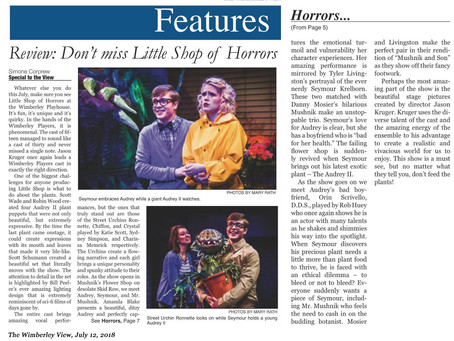 Little Shop of Horrors is a Hit!