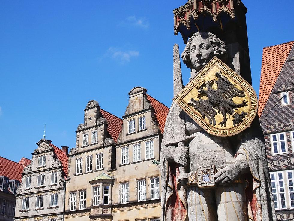 Bremen -Statue of Roland on the Market S
