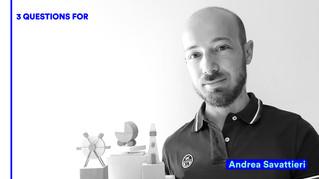 3 QUESTIONS FOR: Andrea Savattieri | IsolaDD