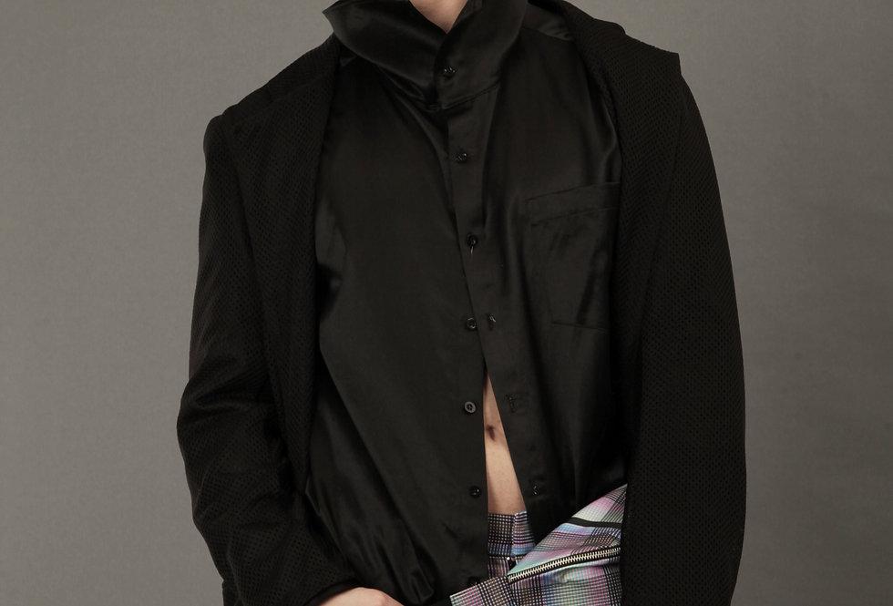 Hi-neck Long Shirt