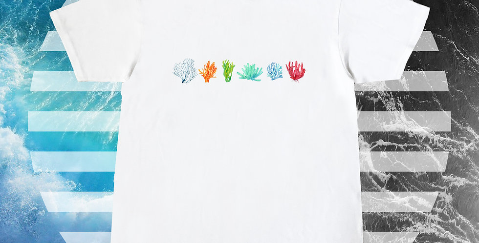 Coral Printed T shirt  (Cleanclothesonly x Carbonethics))