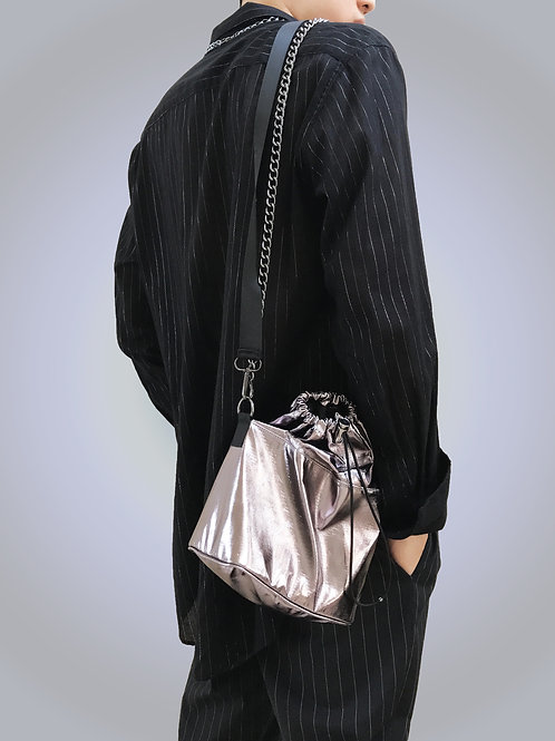 Gunmetal Bucket Bag