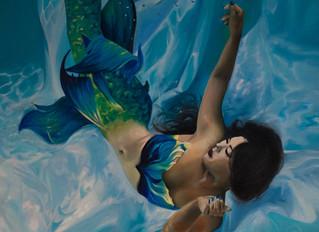 Mermaid Oil Painting : Christina Isaicu