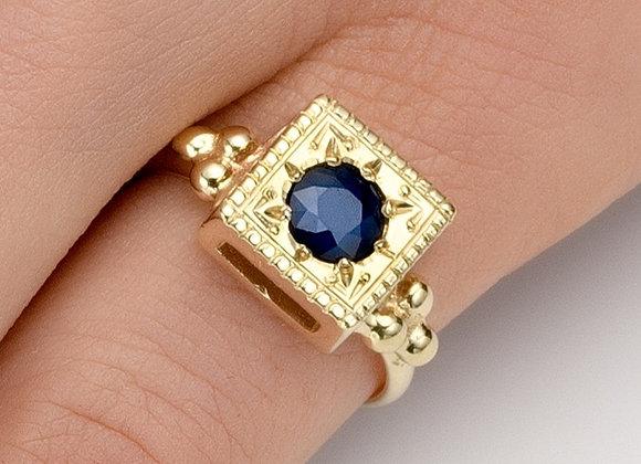Tzofia Sapphire Gold Ring