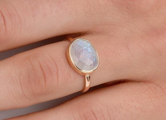 Moonlight Moonstone Gold Ring