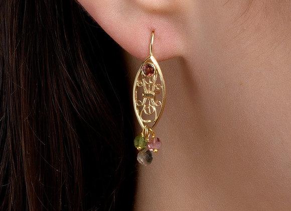 Rotem Tourmaline Gold Earrings