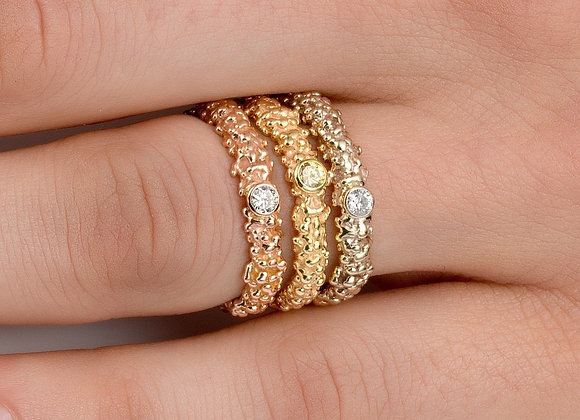 Netif Diamond Gold Ring