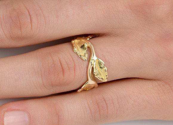 Laurel Wreath Gold Ring