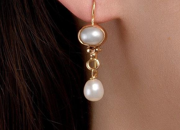 Eden Pearl Gold Earrings