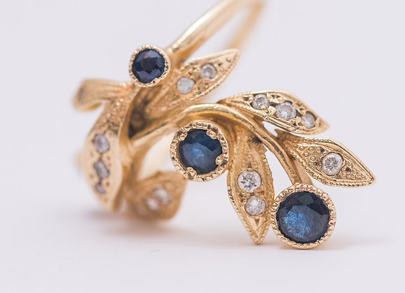 Dalia Diamond and Sapphire Gold Ring