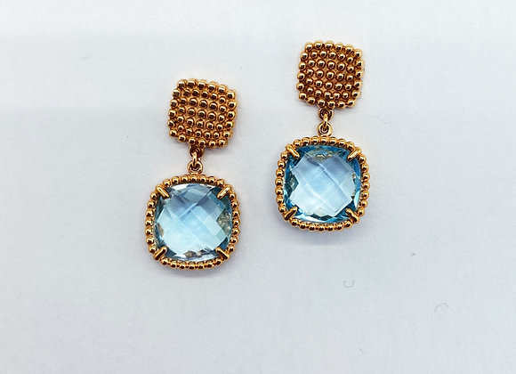 Topaz Rose Gold Earrings