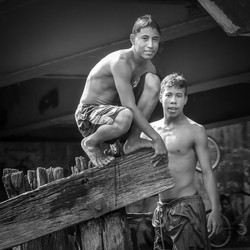 Boys Playing in Belize