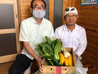子ども食堂「☆きらりん☆」様に愛菜農園会員の野菜を寄付しました